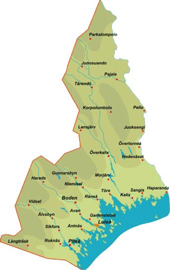 norrbotten karta Province Norrbotten norrbotten karta